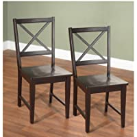 Virginia Cross-Back Chair (Set of 2, espresso)