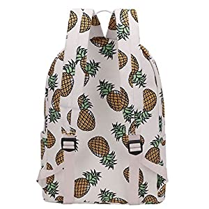 SIPEI Women Backpack For School Teenagers Girls Boys Bags Pineapple Cute back pack Canvas Printing Backpacks Travel Mochila (Pineapple)