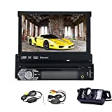 Single-DIN 7 inch car stereo Touchscreen Car DVD/CD/USB/SD/MP4/MP3 Player Receiver, Bluetooth, GPS, Wireless Remote with free wireless camera by eincar