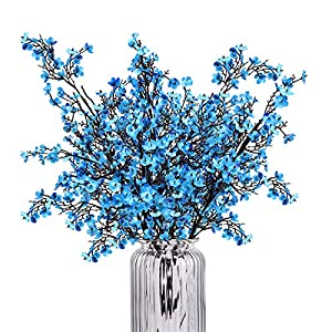 Baby Breath Gypsophila Artificial Flowers, Babies Breath Flowers Bush Artificial Gypsophila Silk Silica Real Touch Blooms for Wedding Bridal Party DIY Home Floral Arrangement Decor, 10 Bundles, 19.7'' 22