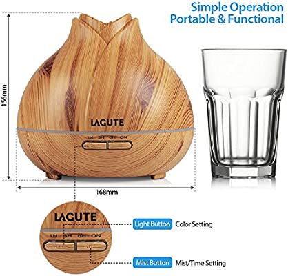 Lagute Essential Petróleo Aroma Diffuser , Ultrasónico ...