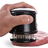Meat Tenderizer Tool 56 Stainless Needle Meat Mallet Gadgets 2018 for Steak, Chicken, Fish, Pork - Meat Genie Tenderizers with Safety Lock