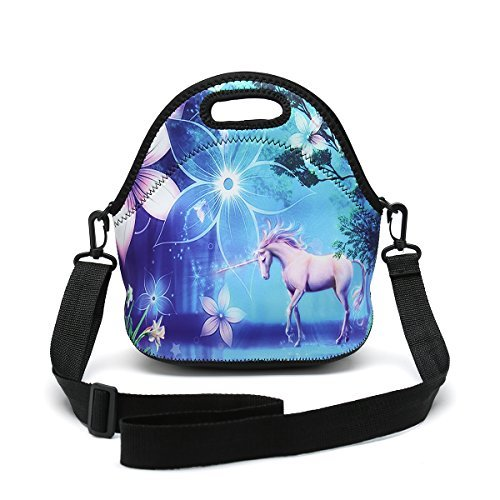 unch Bag Removable Shoulder Strap Reusable Thermal Thick Lunch Tote Bags For Women,Teens,Girls,Kids,Baby,Adults-Lunch Boxes For Outdoors,Work,Office,School (Cute Unicorn) ()