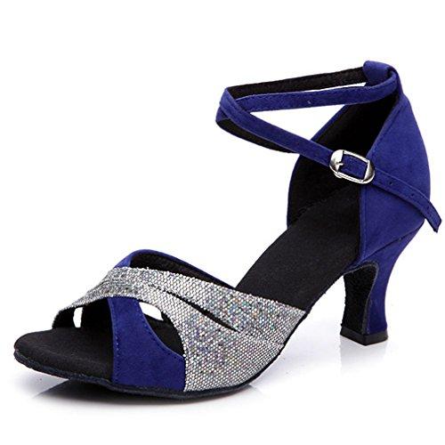 Mouth Xianshu Shoes Latin Buckle D Strap Ankle Fish Donna Paillettes Cross Dancing Sandals FqFCSvw