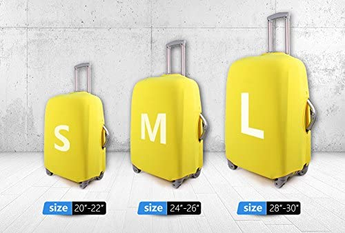 Travel Luggage Covers fit most 18-32 inch,Printing Suitcase Protector Spandex and polyester Protectors Color : Picture1 , Size : L-230G