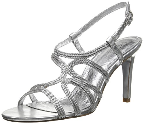 Adrianna Papell Women's Amena Dress Sandal Silver/Metallic Rope