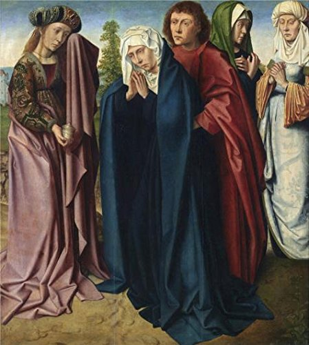 The High Quality Polyster Canvas Of Oil Painting 'The Holy Women And Saint John At Golgotha By Gerard David, Between 1480-1485' ,size: 20x22 Inch / 51x57 Cm ,this High Resolution Art Decorative Prints On Canvas Is Fit For Gift For Girl Friend And Boy Friend And Home Artwork And Gifts