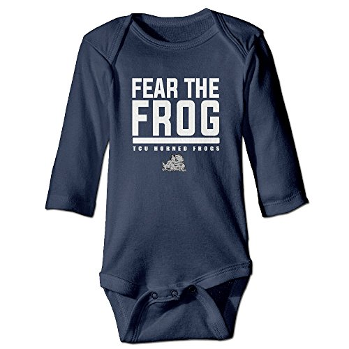 Kid Baby NCAA Texas Christian University Horned Frogs Logo Romper Jumpsuit Navy