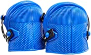 AmazonCommercial Non-Marring Rubber Cap Knee Pads, 9.75 in, Blue, 1 pair