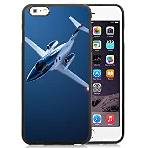 NEW Unique Custom Designed iPhone 6 Plus 5.5 Inch Phone Case With Private Jet Plane Blue_Black Phone Case