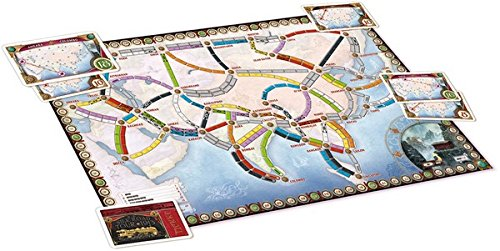 Map Of Asia Review Game.Ticket To Ride Asia Map Collection One