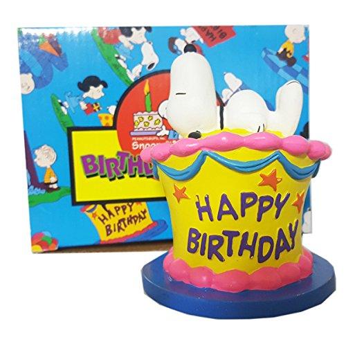 Peanuts Flamebro Birthday Bash Snoopy Birthday Cake Topper Figurine