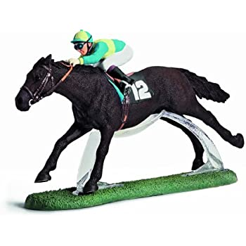 Horse Racing Cake Topper Figure