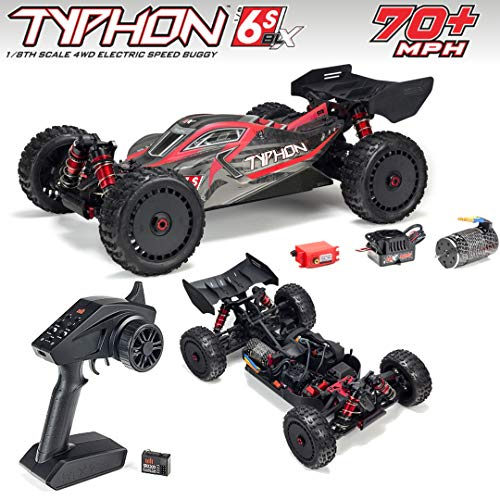 ARRMA 1/8 Typhon 6S BLX 4WD Brushless Buggy RTR, Red/Grey from ARRMA