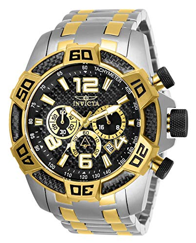 Invicta Men's Pro Diver Quartz Stainless-Steel Strap, Two Tone, 26 Casual Watch (Model: 25856) ()