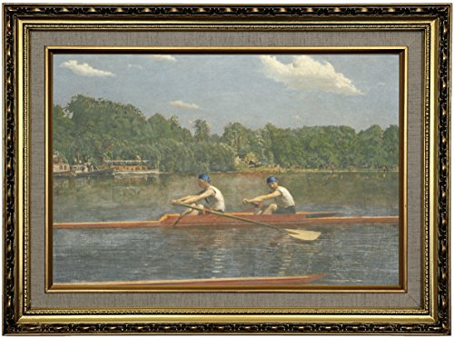 Historic Art Gallery The Biglin Brothers Racing 1872 by Thomas Eakins Framed Canvas Print 12