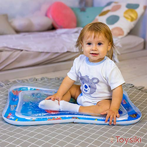 Toysiki Best Infant Toys Premium Tummy Time Inflatable Water Play Mat for Ages 3-12 Months Babies - Toddlers Playmat Activity Gym - Early Stimulation Sensory Toys Baby Activity Center