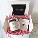 Engagement Gift Box | Future Mrs Wine Glass | Personalized Ring Dish |...