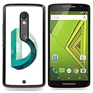 - D Mobius Impossible Teal White - - Snap-On Rugged Hard Cover Case Funny HouseFOR Motorola Verizon DROID MAXX 2 / Moto X Play
