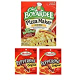 Pepperoni Pizza Kit. Hormel Original Pepperoni and Chef Boyardee Pizza Maker. Convenient One-Stop Shopping for Popular Make At Home Pizza. Easy to Source With 1 Click. Everyone Loves Homemade Pizza!