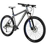 Diamondback Bicycles 2015 Axis Sport Hard Tail Complete Mountain Bike, 20-Inch/Large, Dark Silver/Blue