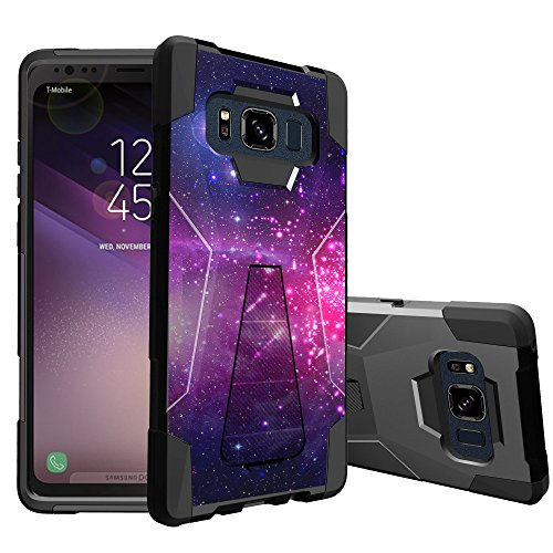 MINITURTLE Case Compatible w/ MINITURTLE Stand Case Compatible w/ Samsung Galaxy S8 ACTIVE SMG892A [SHOCK FUSION SERIES] Case w/ Builtin Stand & Hybrid Layer Protection Heavenly Stars (Heavenly Stars)