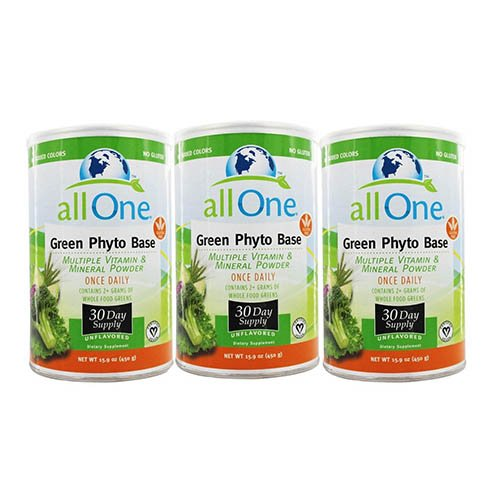 All One Green Phyto Base 30 Day Supply Powder, 3 (All One Green Phyto Base)