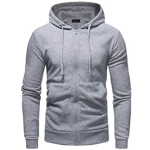 Hoodie Sweatshirt Long Sleeve,ZYAP Mens Winter Hoodie Outwear Tops (Gray,L) ()