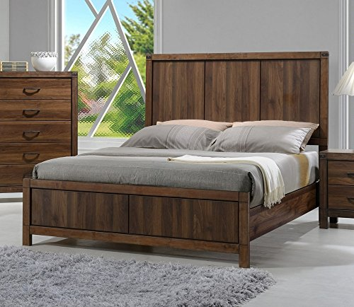 Belmont Medium Brown Wood Twin Panel Bed by Crown Mark