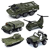 rocket launcher gun real - Army Vehicle Toy Set Diecast Military Model Cars Metal Army Playset Helicopter Tank Truck Jeep Armored Car for Kids - 5 pieces