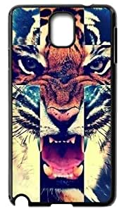 Fashion Cases Tiger Roar Cross Hipster Quote Back Samsung Galaxy Note3 N9000 Cases Cover