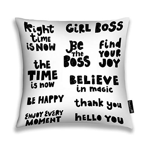 (Randell Throw Pillow Covers Phrases Image Black Quote Home Decorative Throw Pillowcases Couch Cases 20