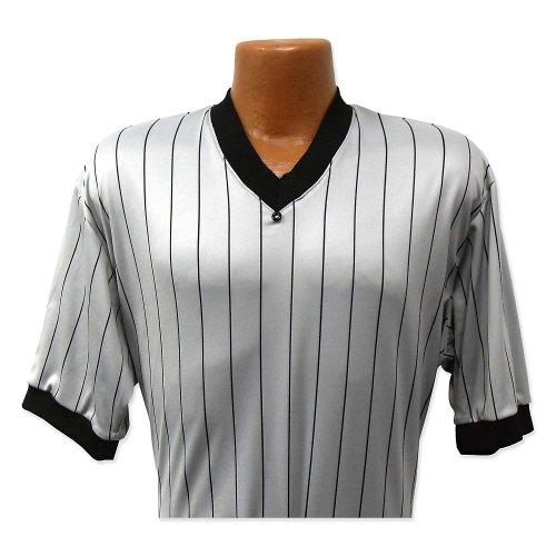 Dalco Men's Basketball Referee Officials Shirt Grey Black Pinstripe Moisture