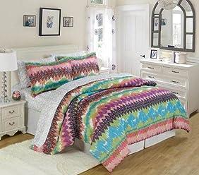 XOXO Tie Dye Lace Bed in a Bag Set, Full, Multi