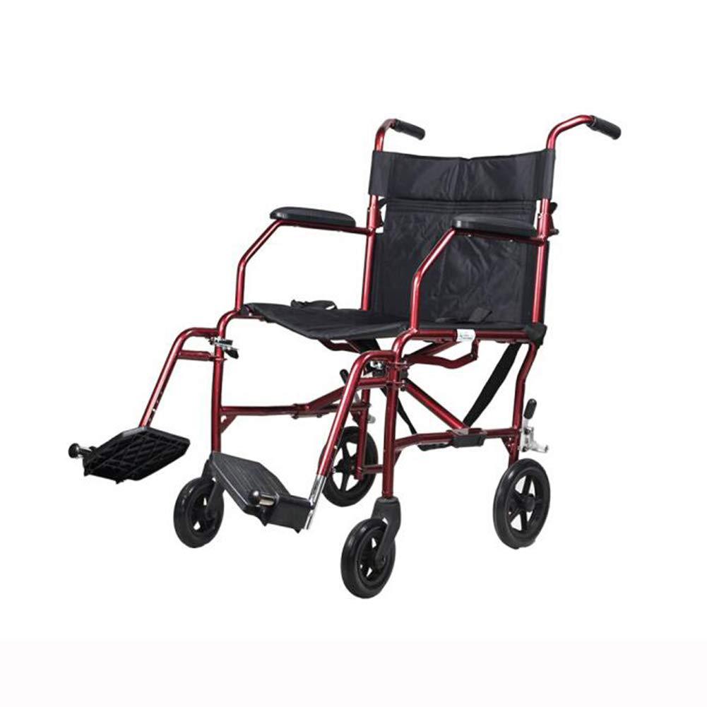 【本物保証】 QIDI 車椅子 折りたたみ 軽量 折りたたみ 手動ブレーキ ソリッドタイヤ 取り外し可能なペダル 軽量 旅行 QIDI ポータブル 6.8kg B07MP9HGX3, クラウンギアーズ:f32242d7 --- a0267596.xsph.ru