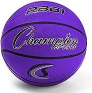 Champion Sports Official Heavy Duty Rubber Cover Nylon Basketballs (Purple, Size 7)
