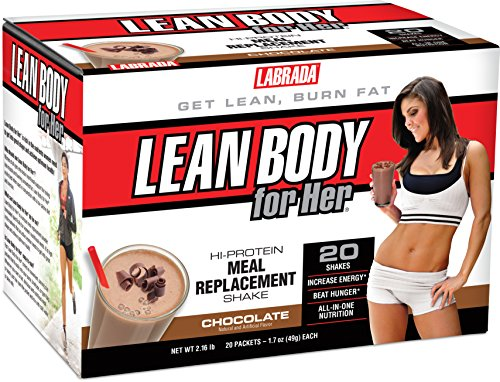 Labrada Nutrition Lean Body for Her Hi-Protein Meal Replacement Shake, Delicious Soft Chocolate Ice Cream, 1.7-Ounce Packets (Pack of (Labrada Lean Body Shake)