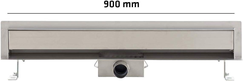 Fala Duschrinne Wandablauf Brick 30-90cm Ablaufrinne Dusche 70mm breit