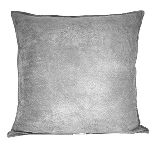 Hudson Suede Bedding - Hudson Street Faux Suede Single Decorative Pillow 22 x 22 Inch, 22