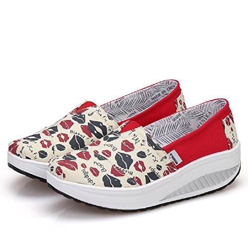 Walking Sneakers Womens Girls Jogging Shoes YORWOR Lip Nordic 4wpa1TWq