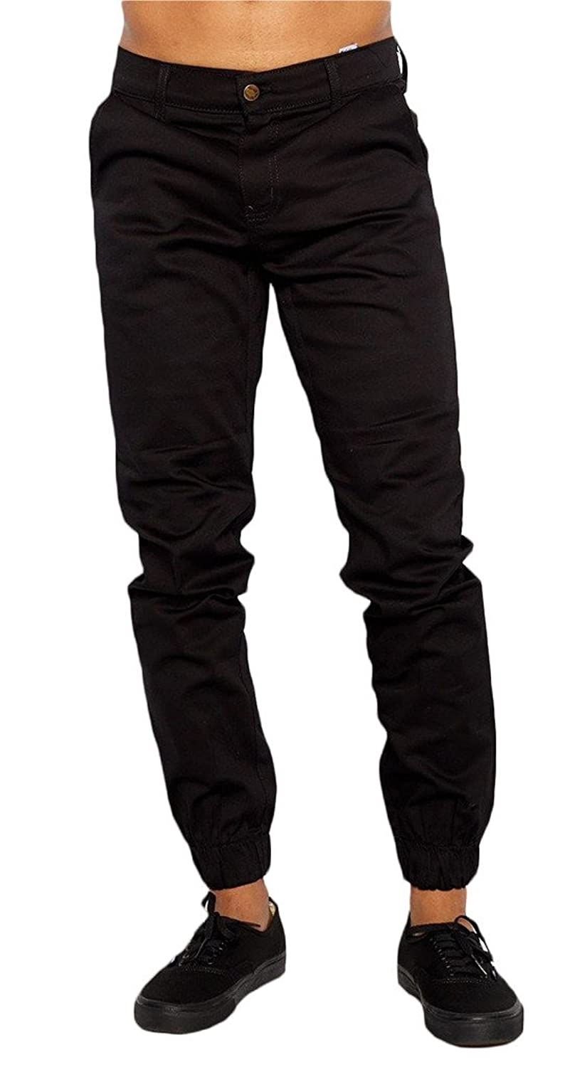 Mens Joggers Twill Pants Heft Signature Urban Brand Made In Usa by Heft Signature
