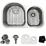 Kraus KBU26 32 inch Undermount 60/40 Double Bowl 16 gauge Stainless Steel Kitchen Sink