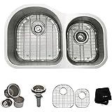 Kraus KBU26 32 inch Undermount 60/40 Double Bowl 16 gauge Stainless Steel Kitchen Sink
