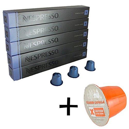 (유익 세트/세제 샘플1 개부착) NESPRESSO 네스프레소 캡슐 커피 《비바루토》・《룬고》 1개 10캡슐x5개 세트