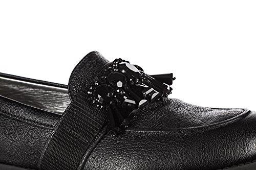 Mocassini Hogan Donna In Pelle Pantofola H259 Nero