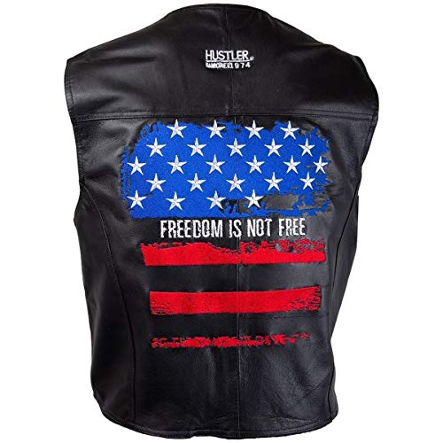 Officially Licensed Hustler Mens Freedom is Not Free Embroidered Distressed USA - Medium