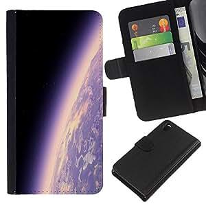 Planetar® Modelo colorido cuero carpeta tirón caso cubierta piel Holster Funda protección Para Sony Xperia Z3 D6603 ( Space Planet Galaxy Stars 17 )