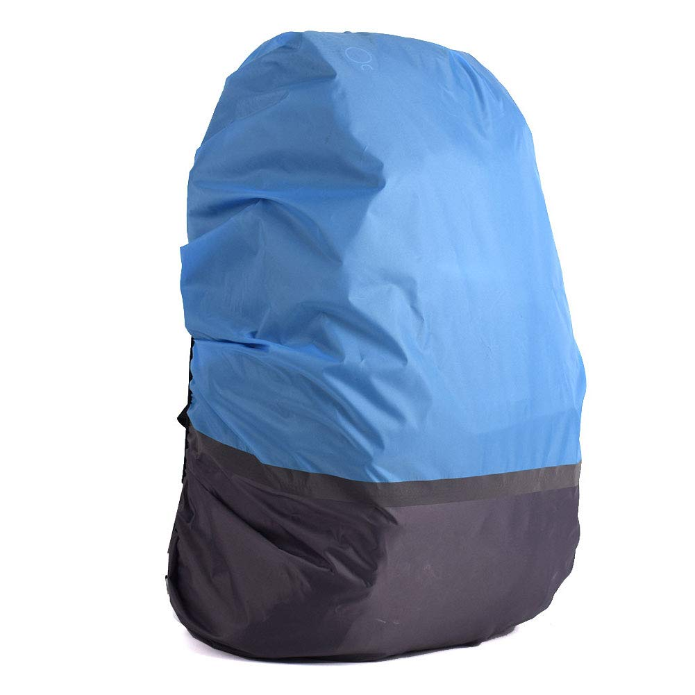 Blue Outdoor Reflective Backpack Cover Waterproof Protective Cover for Cycling