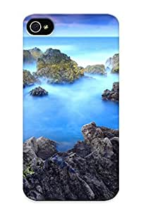 Freshmilk High Grade Flexible Tpu Case For Iphone 4/4s - Mountains Landscapes Nature Dawn Fog Skyscapes Mountain Peak View Porto Moniz ( Best Gift Choice For Thanksgiving Day)