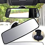 "VVHOOY 9.8"" Car Suction Rear View Mirror Extender, Universal Panoramic Adjustable Suction Cup Interior Rear view Mirror Car Interior Mirrors for Truck Pickup Rv"